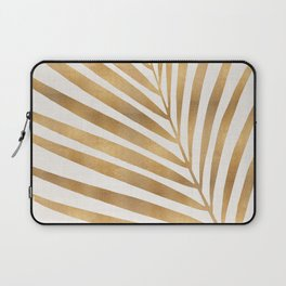 Metallic Gold Palm Leaf Laptop Sleeve