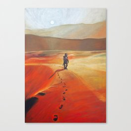 The Martian Mars walk inspired chalk drawing Canvas Print