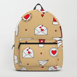 With Love Valentine in Neutral Backpack