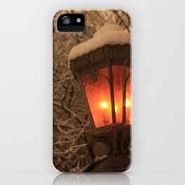 Lamplight in Winter iPhone Case