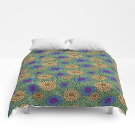 Leafy Green Floral Pattern Comforters