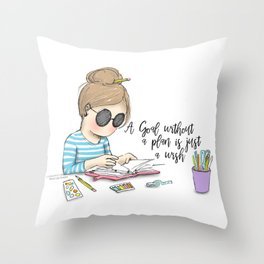 Miss Lily Shades Goal getter Throw Pillow