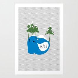 party animals - norwegian bear Art Print
