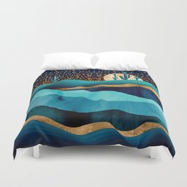 Indigo Desert Night Duvet Cover