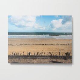 Saint Malo Beach Metal Print