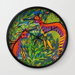 Weedy Seadragons Wall Clock