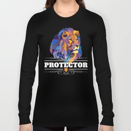 Protector: Lion Long Sleeve T-shirt