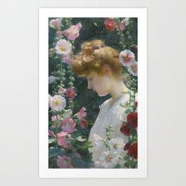 Charles Courtney Curran (American, 1861 - 1942). SUNLIGHT Art Print