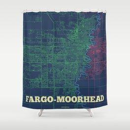 Fargo-Moorhead Street Map Shower Curtain