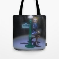 sesame street Tote Bags featuring Sesame Street - After Hours by Beastie Toyz