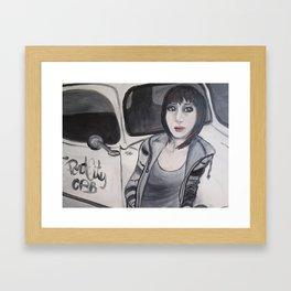 Cabby Girl Framed Art Print
