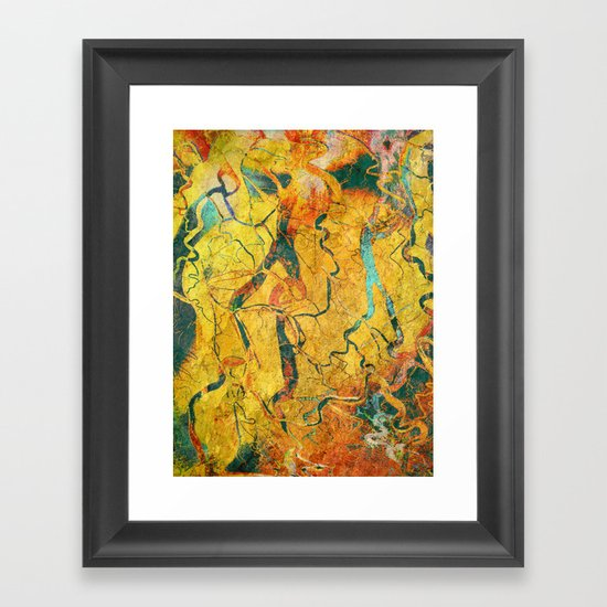 Cave Drawing Framed Art Print