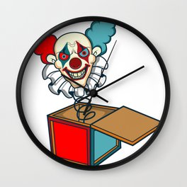 Clown Game Kids horror scared movie book gift Wall Clock