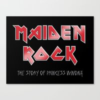 iron maiden Canvas Prints featuring Maiden Rock, Wisconsin by Project Wisconsin