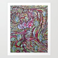 Mushroom Spirit  Art Print