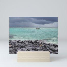 Boat trip Mini Art Print