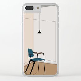 Vintage retro chair Clear iPhone Case