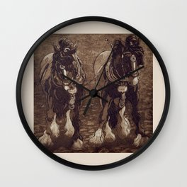 Shires / Horses Wall Clock