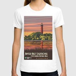 Vintage Poster - Jupiter Inlet Lighthouse Outstanding Natural Area, Florida (2015) T-shirt