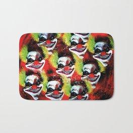 Halloween Horrorclown Collage Bath Mat