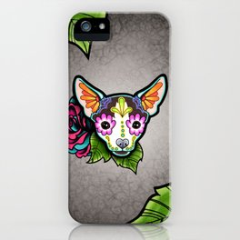 Chihuahua in Moo - Day of the Dead Sugar Skull Dog iPhone Case