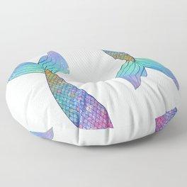 rainbow mermaid tail Floor Pillow