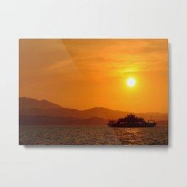 Last Ferry Metal Print