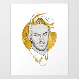 Golden collar Art Print