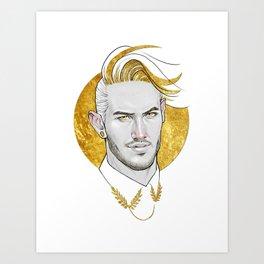 Golden collar Art Print