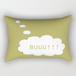 Balloon used in comic books thinking about cursing someone Rectangular Pillow