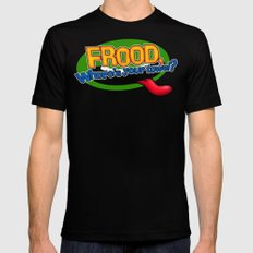 FROOD, Where's your towel? Mens Fitted Tee MEDIUM Black