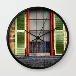 Window Shutters Wall Clock
