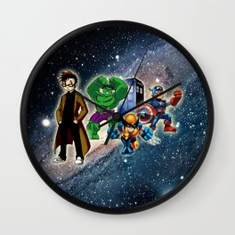 Tardis Super Hero Wall Clock