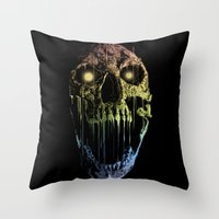 soul eater Throw Pillows featuring Soul Eater by Doyle See