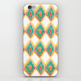 The Chevron Flame - aztec watercolour pattern iPhone Skin