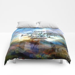 Winston Churchill Motivational SUCCESS QUOTE Comforters