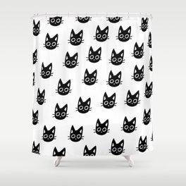 Black Kittens Shower Curtain