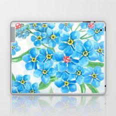 Forget me not seamless floral pattern Laptop & iPad Skin