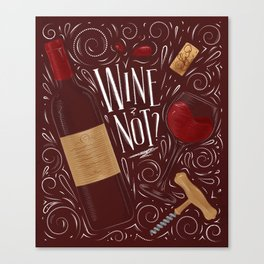 Wine not red Canvas Print