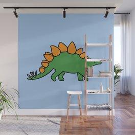 Cute Stegosaurus Wall Mural
