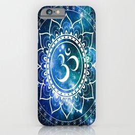 Om Mandala : Blue Green Galaxy iPhone Case