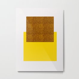 Golden Square Metal Print