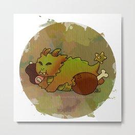 Little Sin Dragon - Gluttony Metal Print