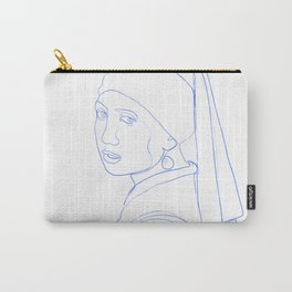 Girl with Pearl Earring - Line Art Carry-All Pouch