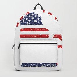 German Shepherd USA Flag Sheepdog Patriotic design Gift Backpack