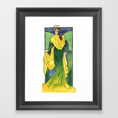 Lady Loki Framed Art Print