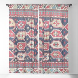 Saliani Southeast Caucasus  Rug Print Sheer Curtain