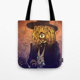 Low down, no good, Lion Cheetah Tote Bag