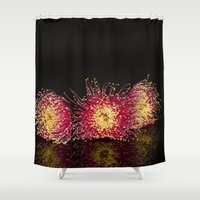 western Shower Curtains featuring Western Rose by Imagevixen