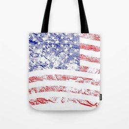 Grunge style American flag Tote Bag